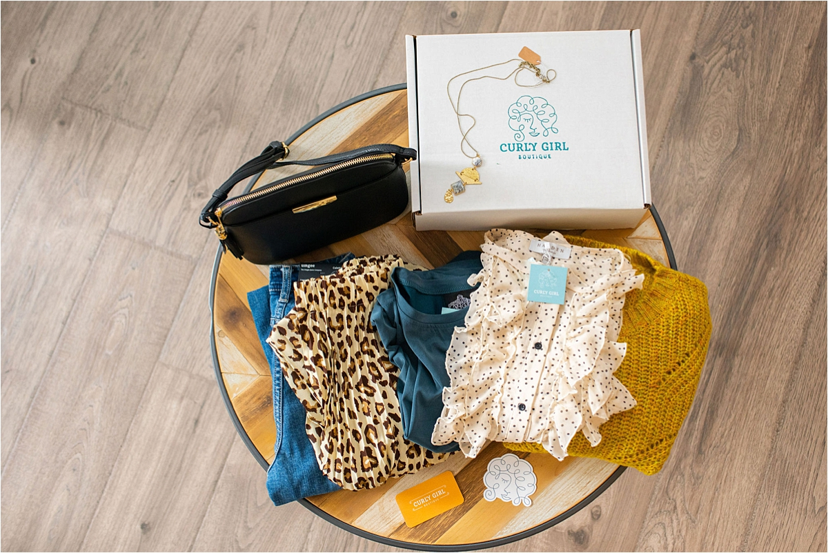 Minneapolis PR Photography style boxes feature clothing and accessories