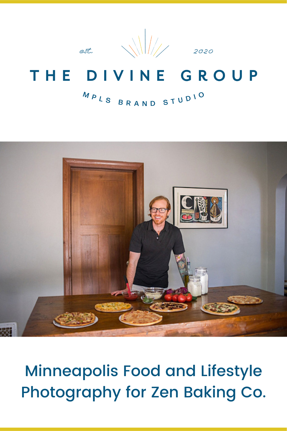 Vegan and gluten-free options are more available in Minnesota thanks to great companies like Zen Baking Co. We helped them create food and lifestyle photography for their new website and social media accounts as they launched their crusts and pizza for public order. Visit the blog for photos and more on this LGBTQ-owned brand that gives back with every order. | The Divine Group | Minneapolis brand photography, Minneapolis food and lifestyle photography | #brandphotography #lifestylephotography