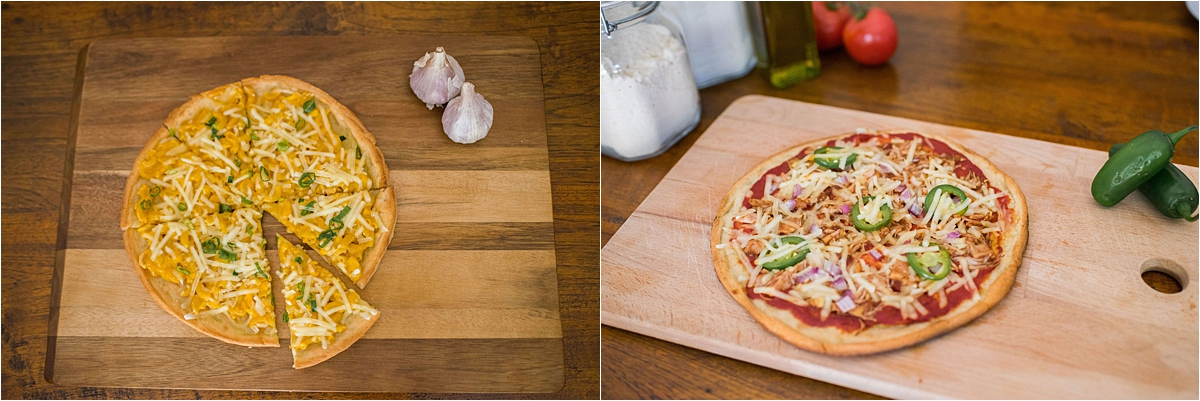 Minneapolis Food and Lifestyle Photography pizza on cutting board
