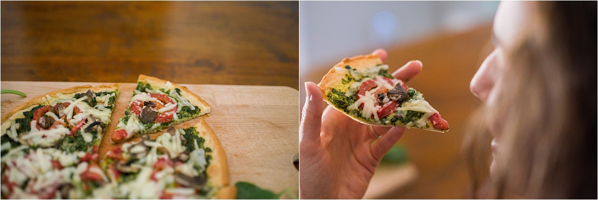 Minneapolis Food and Lifestyle Photography eating pizza