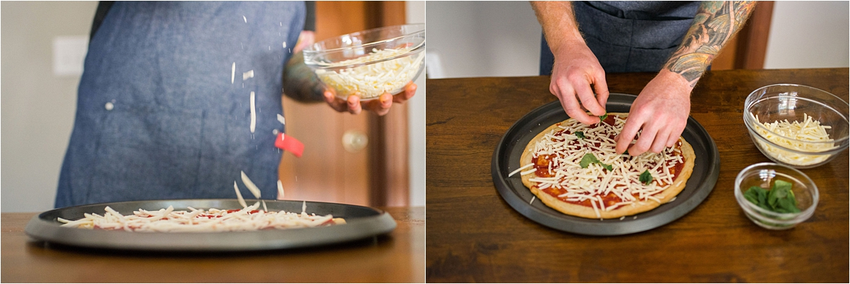Minneapolis Food and Lifestyle Photography making pizza