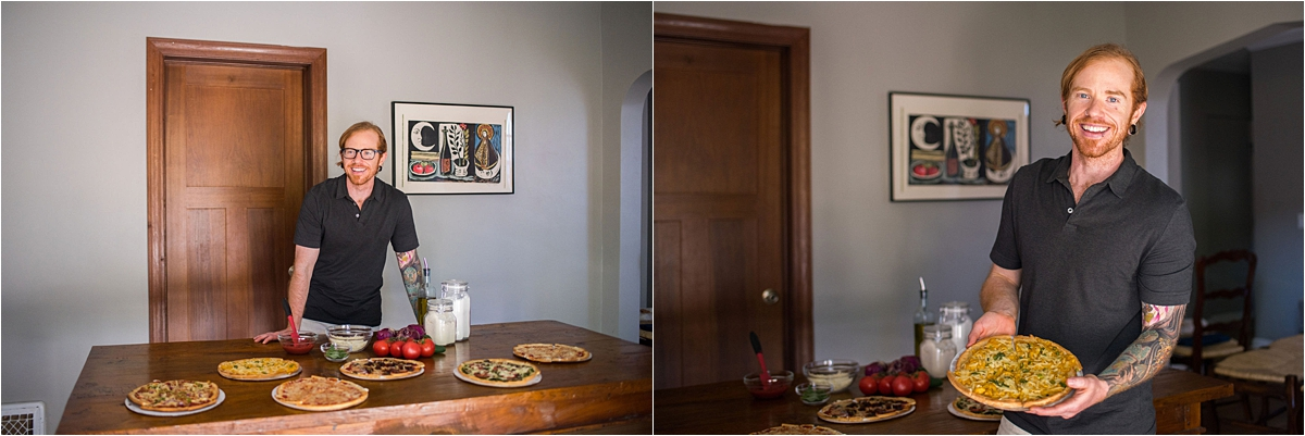 Minneapolis Food and Lifestyle Photography showing off pizza