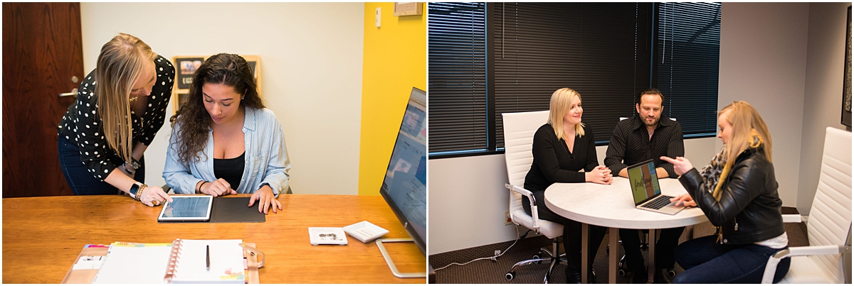Twin cities brand photography for financial advisor and podcaster client meetings