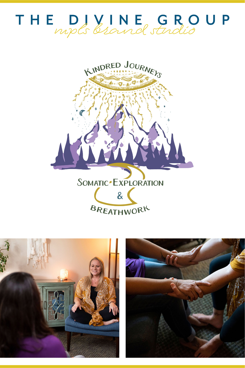 As a somatic healer, Kim helps her clients find a path to healing. Even though everyone's path is different, Kim is always a compass or guide for them. Our designer was inspired by this and created a logo that perfectly fits her brand message.   The Divine Group   Minneapolis brand photography   #branding #personalbranding #brandphotography   https://thedivinegroup.co/minneapolis-logo-design-and-brand-photography-for-somatic-therapists-kimberly-lovejoy